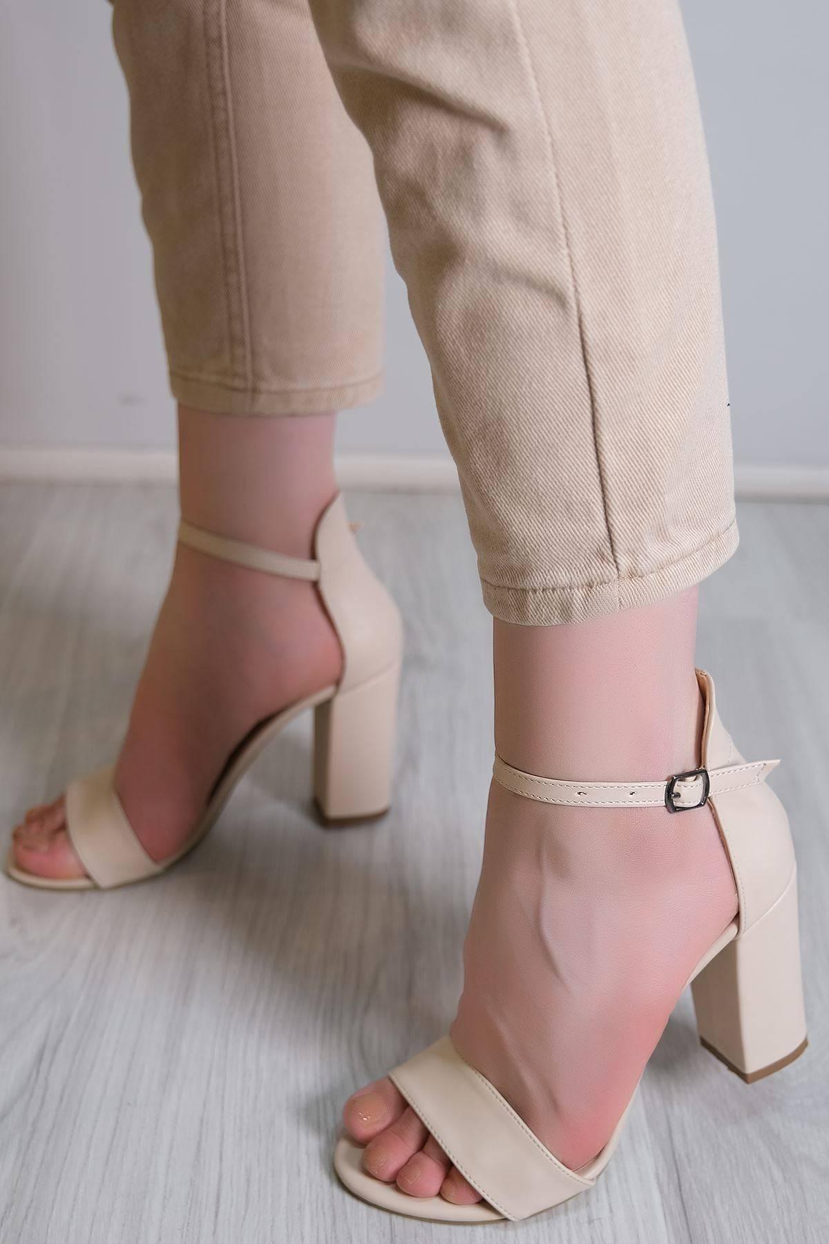 9 Cm Topuklu Ayakkabı Ten - 3902.264.