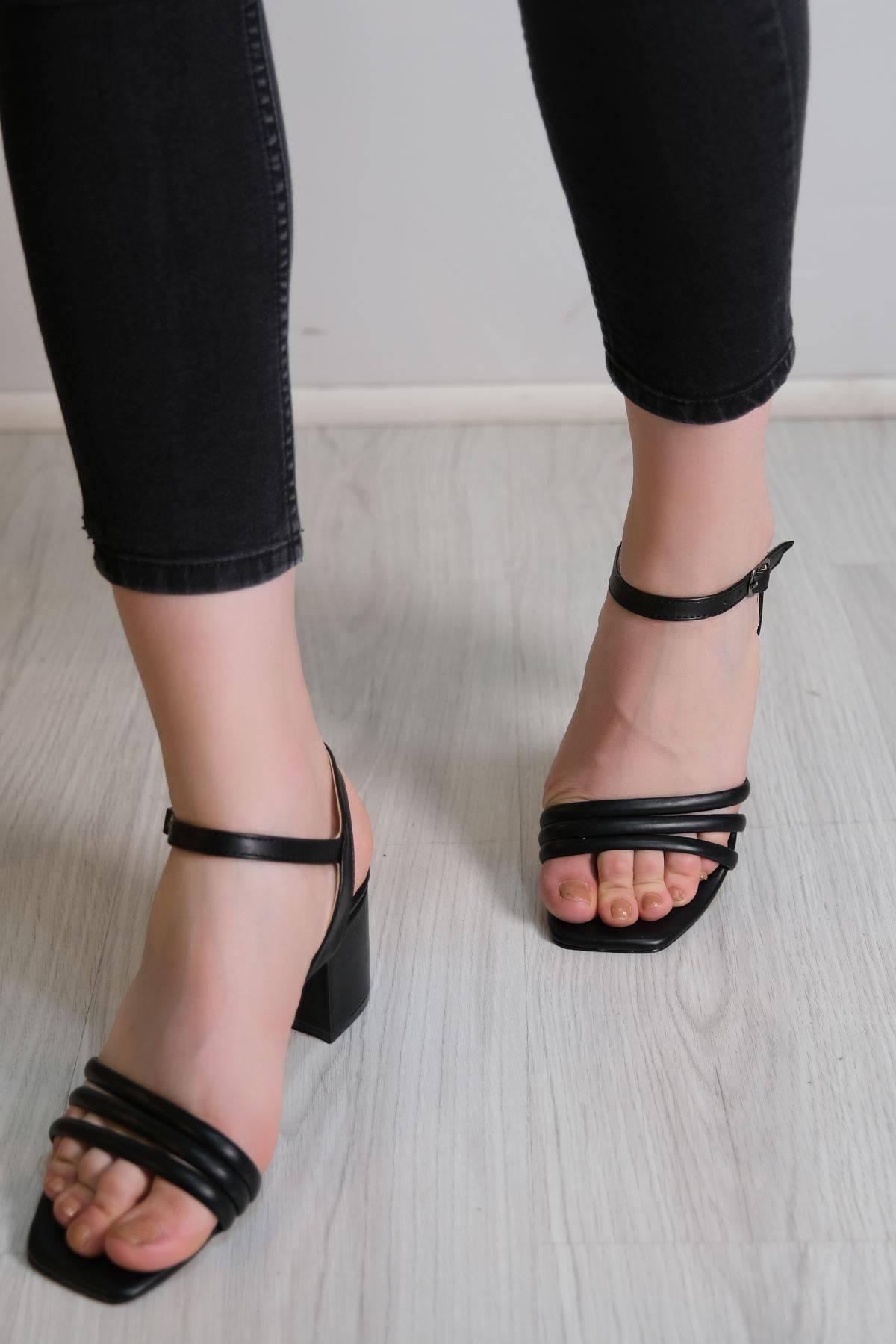 5 Cm Topuklu Ayakkabı Siyahderi - 6118.164.