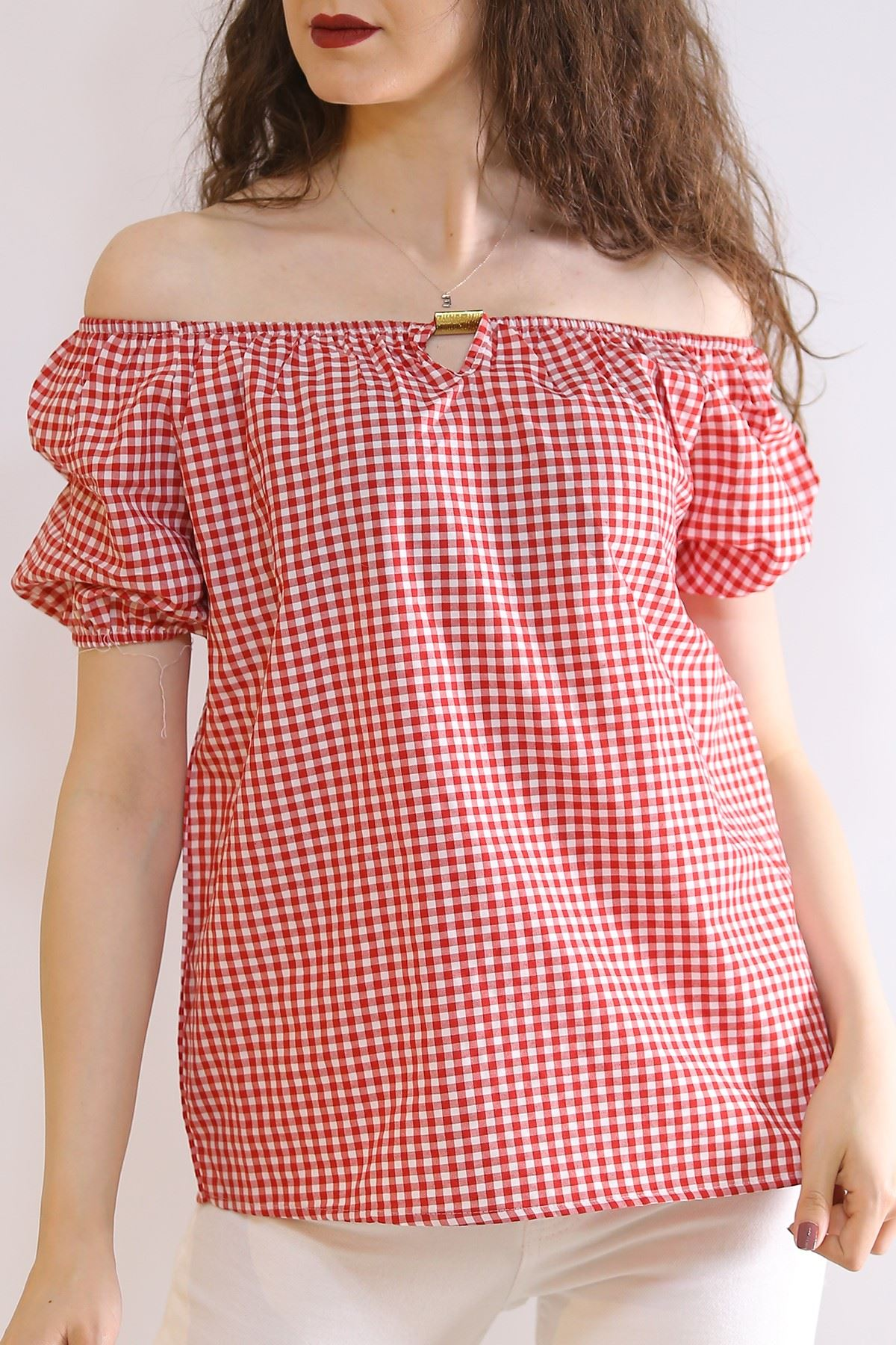 Kayık Yaka Bluz Kırmızı - 5980.107.