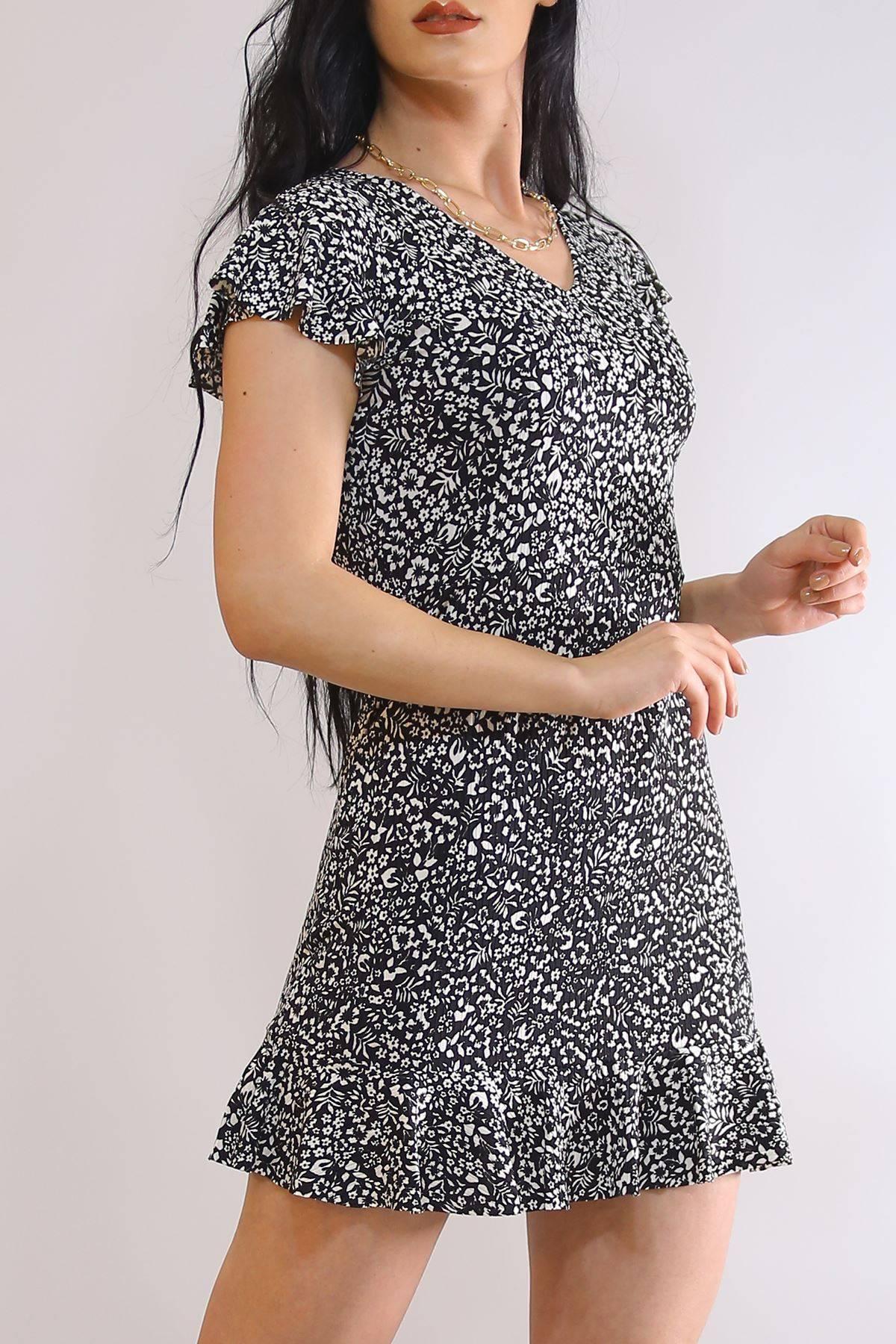Altı Fırfırlı Elbise Beyazçiçekli - 2255.555.