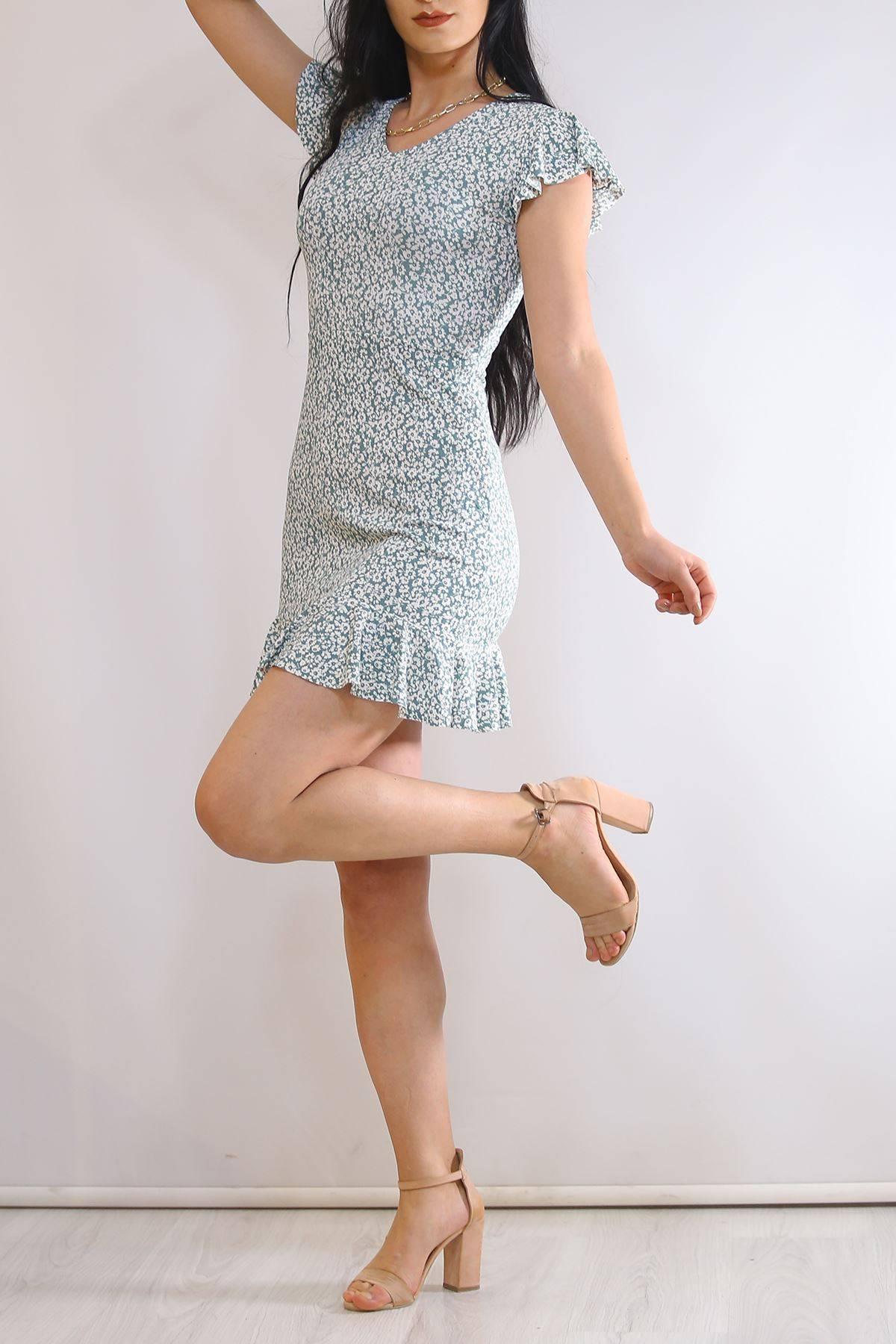 Altı Fırfırlı Elbise Çağla - 2255.555.