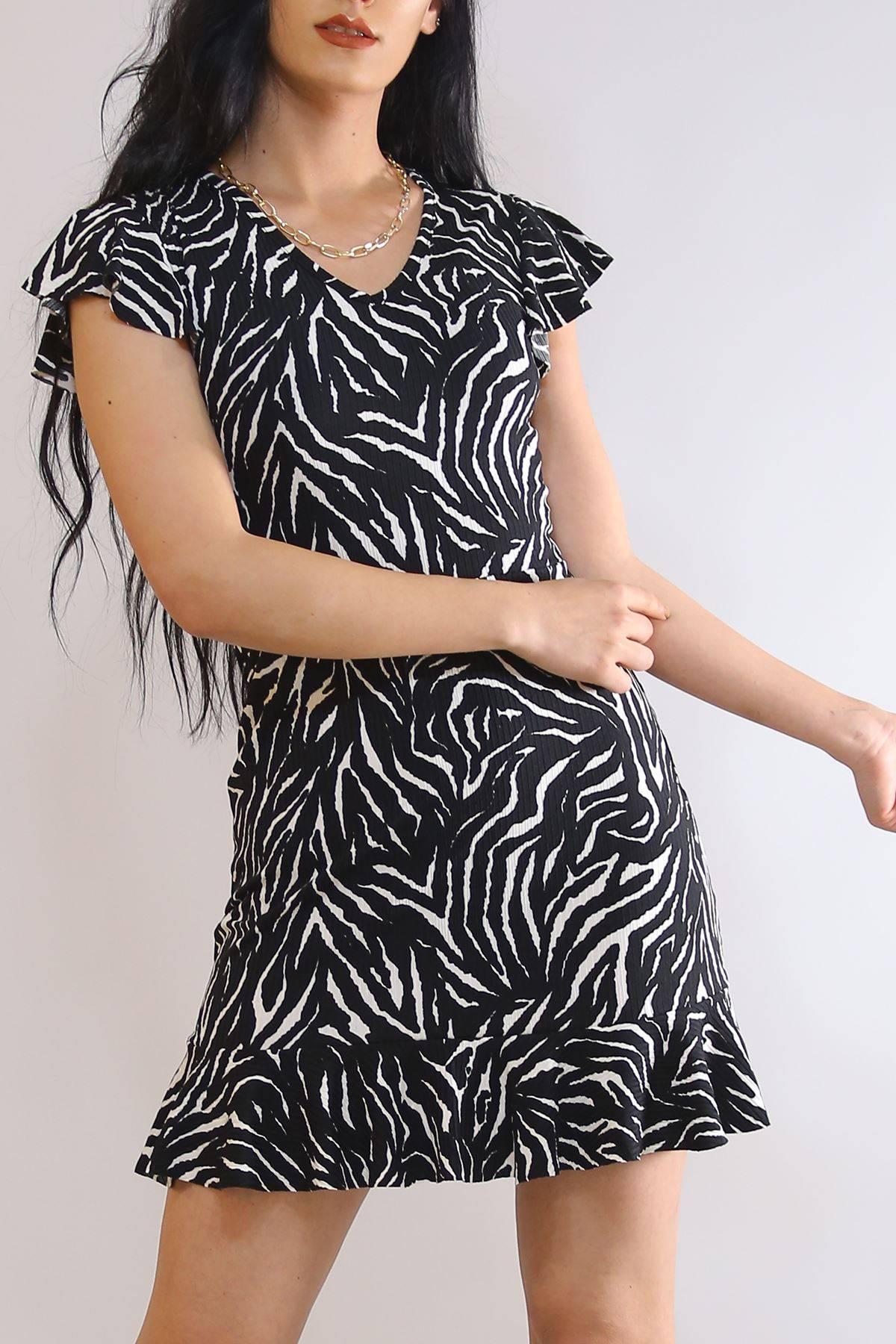 Altı Fırfırlı Elbise Zebra - 2255.555.