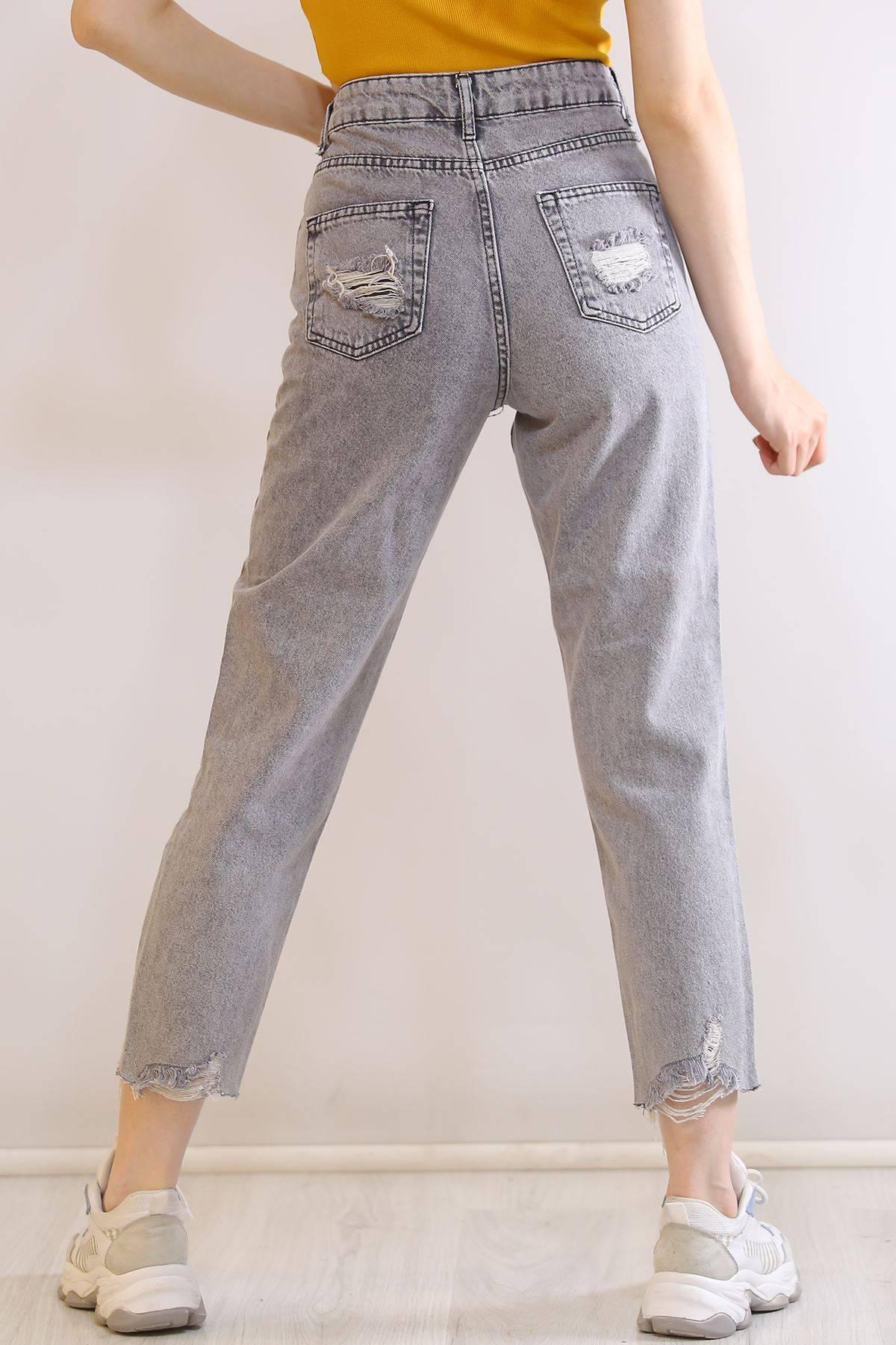 Tek Diz Lazer  Kot Pantolon Füme - 5976.392.