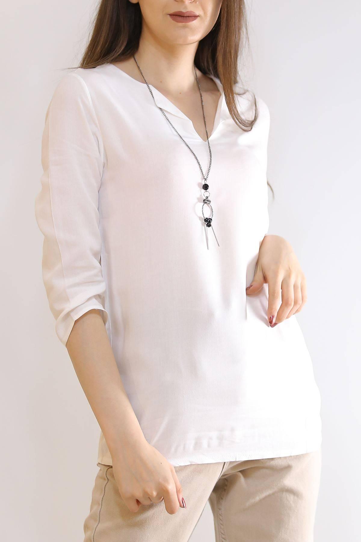 Kolyeli Bluz Beyaz - 6171.1059.
