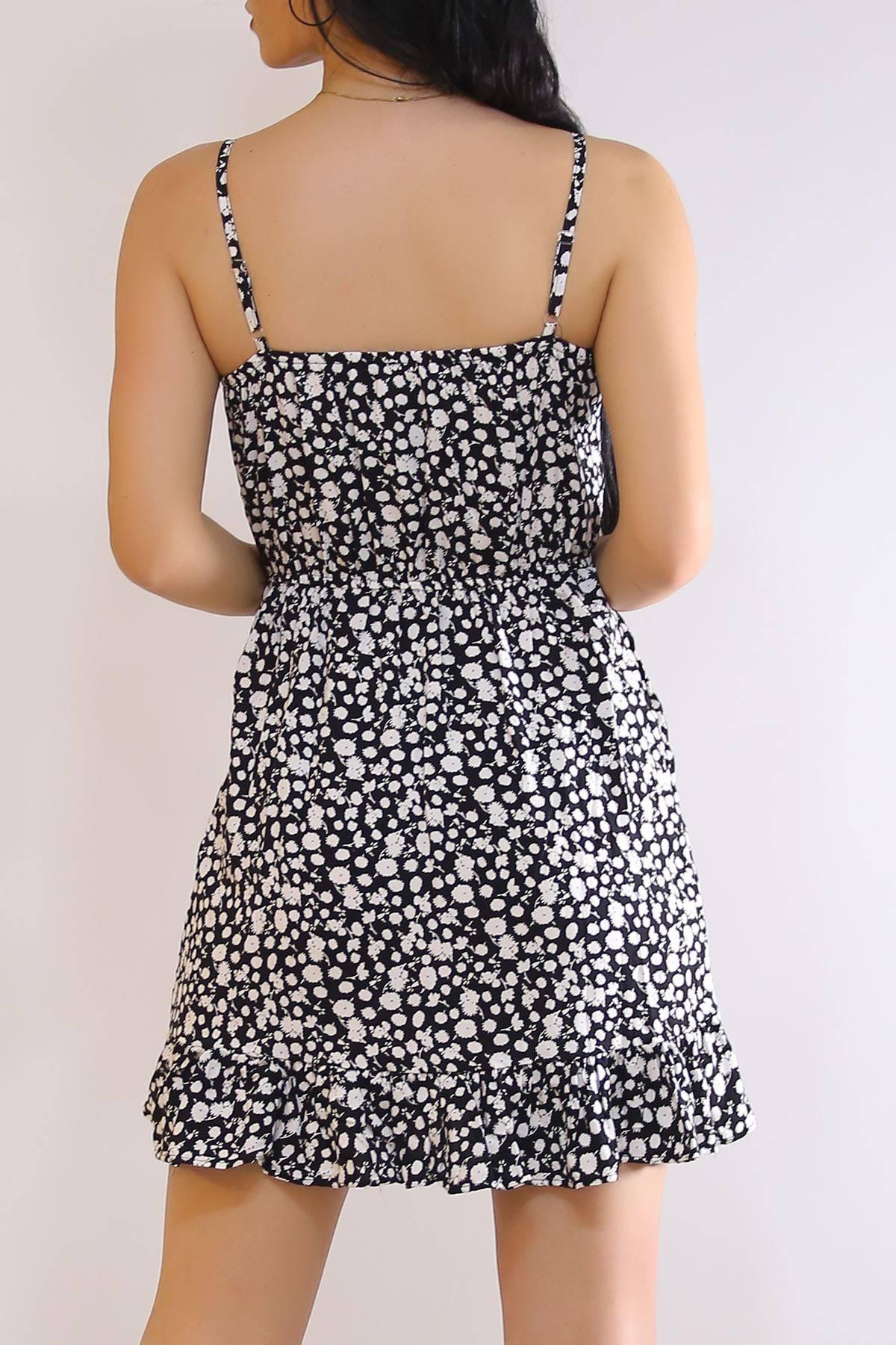 İp Askılı Elbise Beyazsiyah - 21160.101.