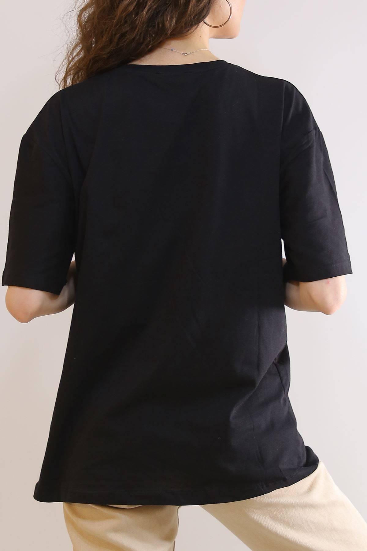 Ejderha Baskılı Tişört Siyah - 2906.992.