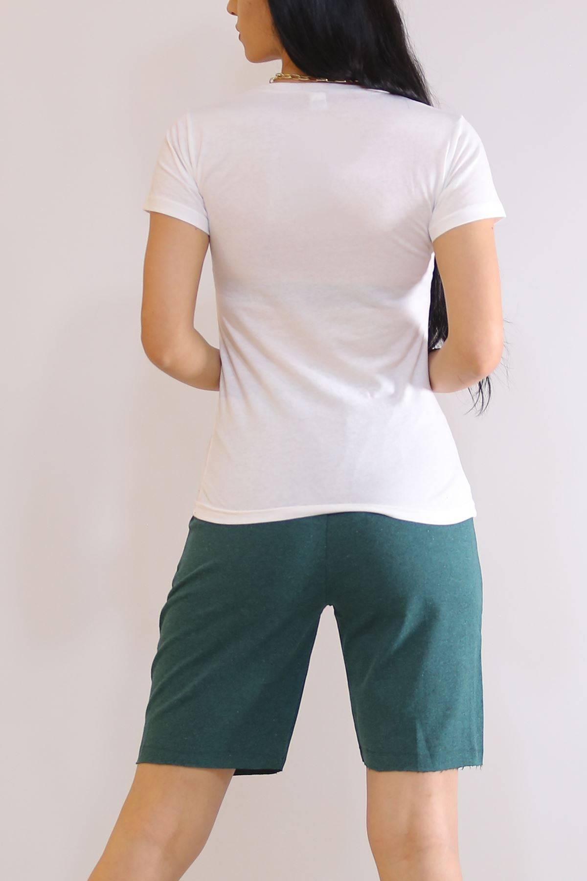 Şortlu Takım Beyazyeşil - 6190.1348.
