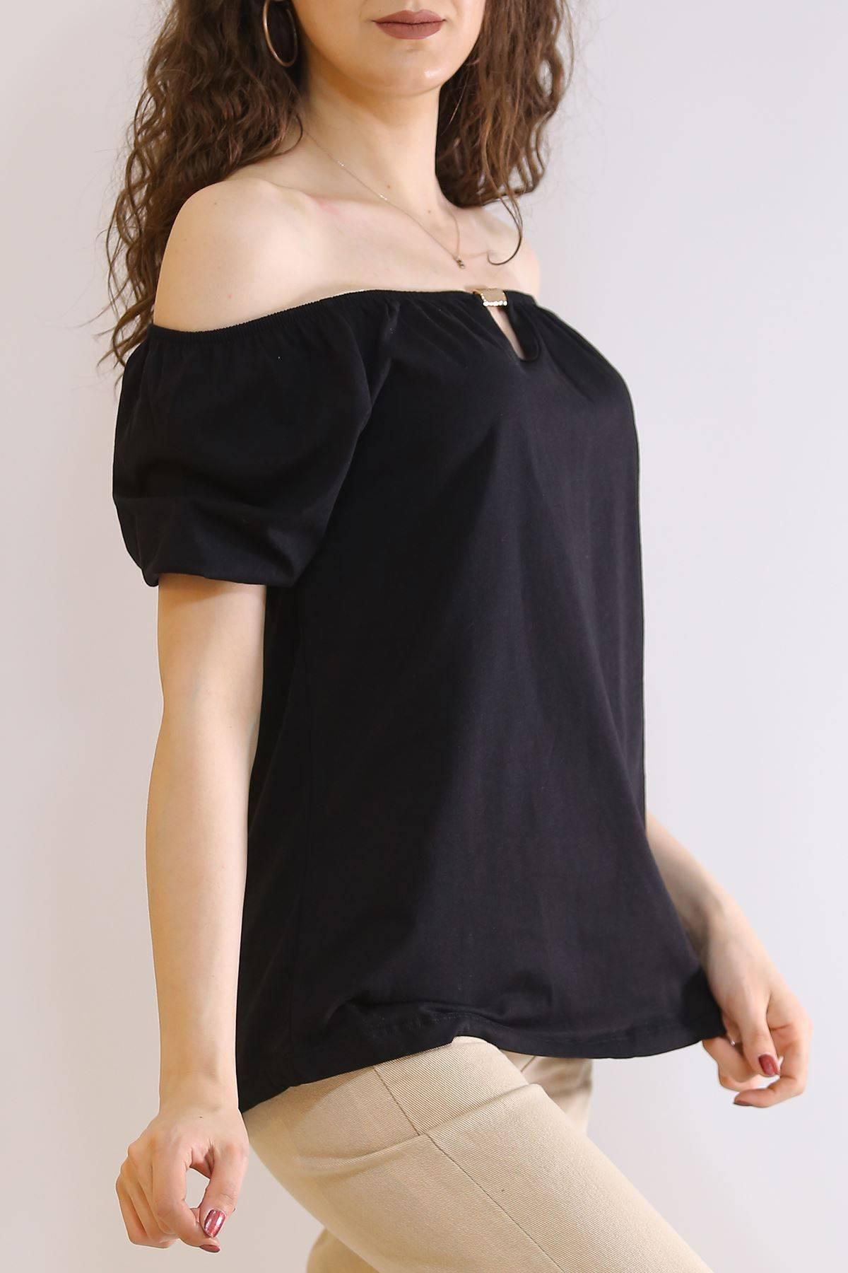 Kayık Yaka Bluz Siyah - 6194.107.