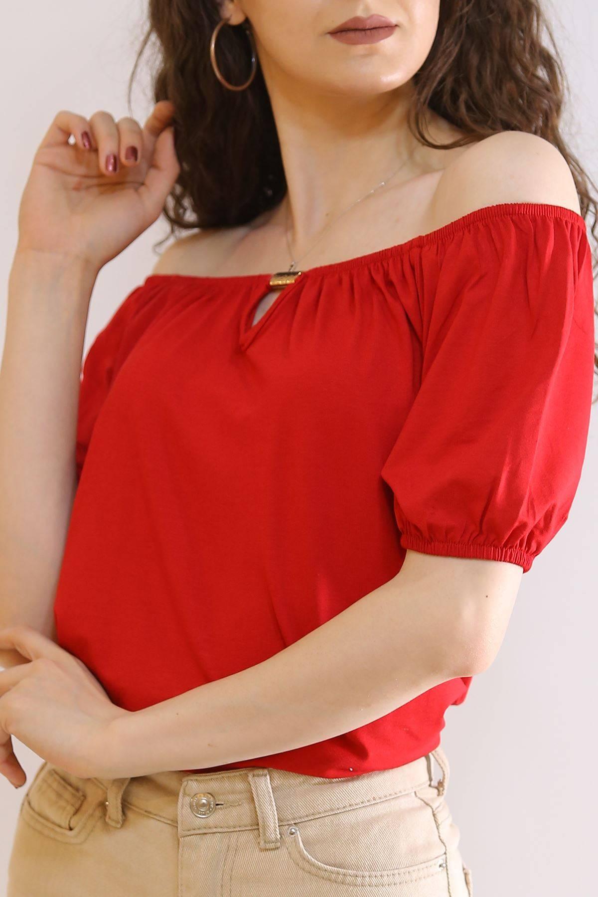 Kayık Yaka Bluz Kırmızı - 6194.107.