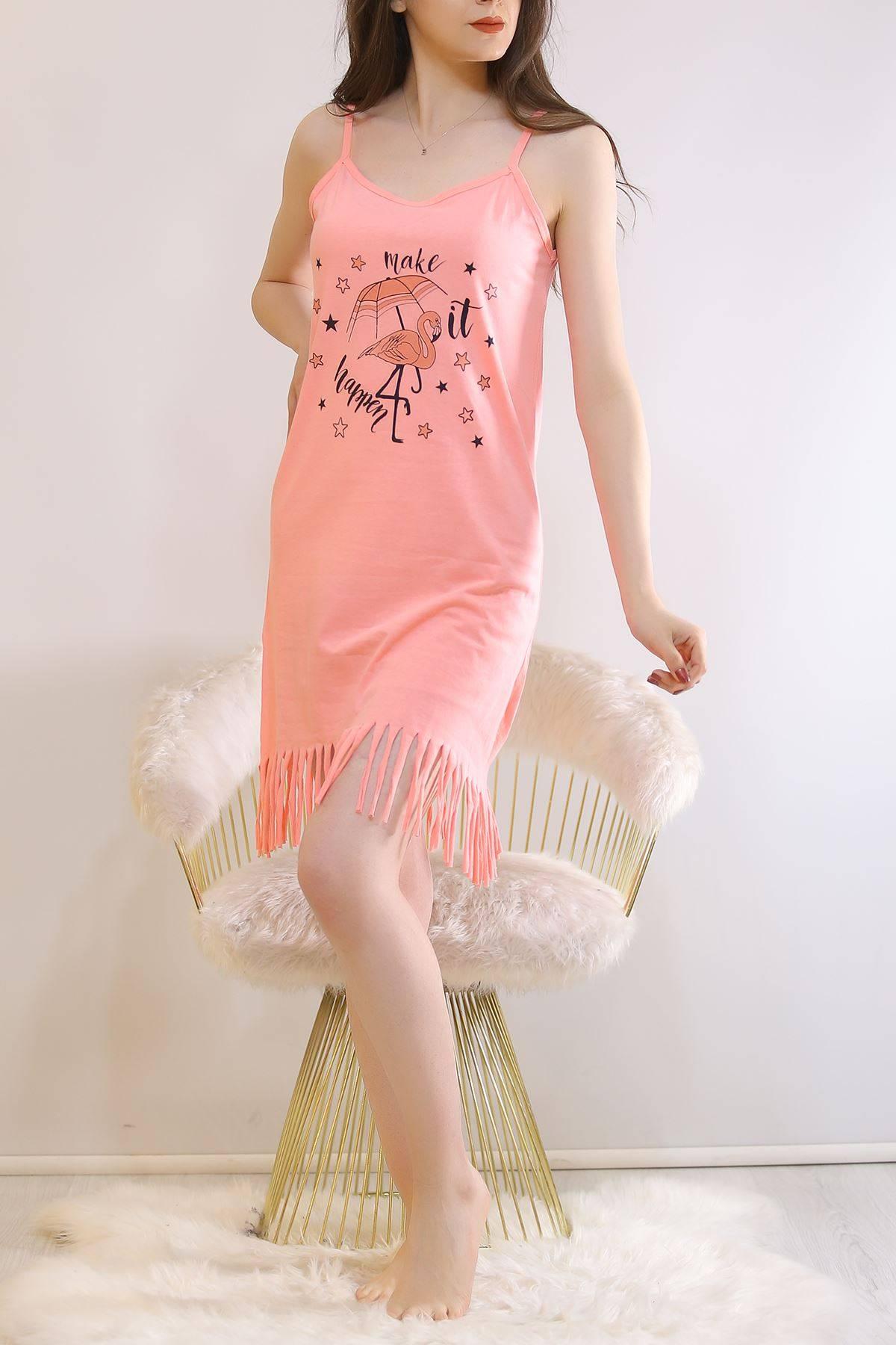 İp Askılı Elbise Koyupudra1 - 5996.1287.