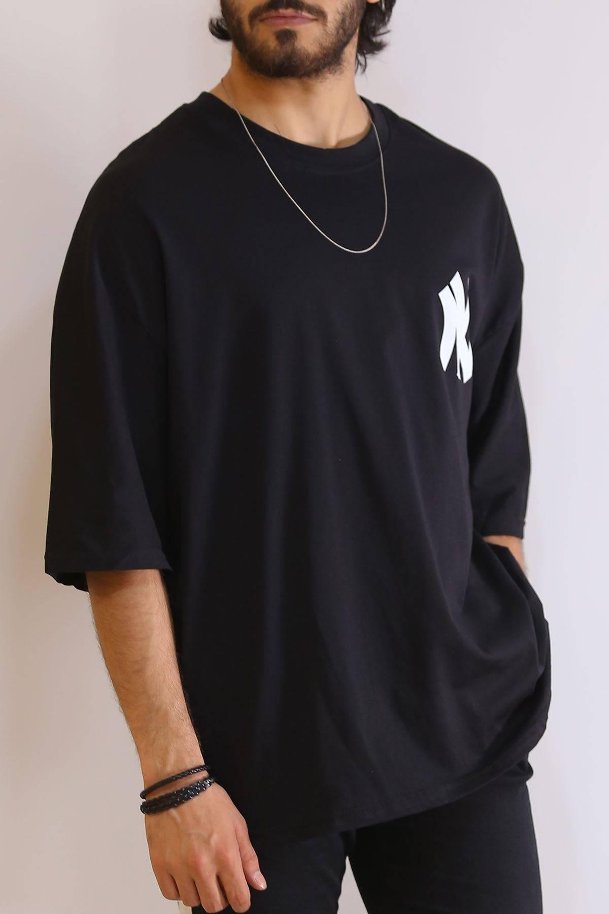 Arkası Baskılı Tişört Siyah - 6201.1377.