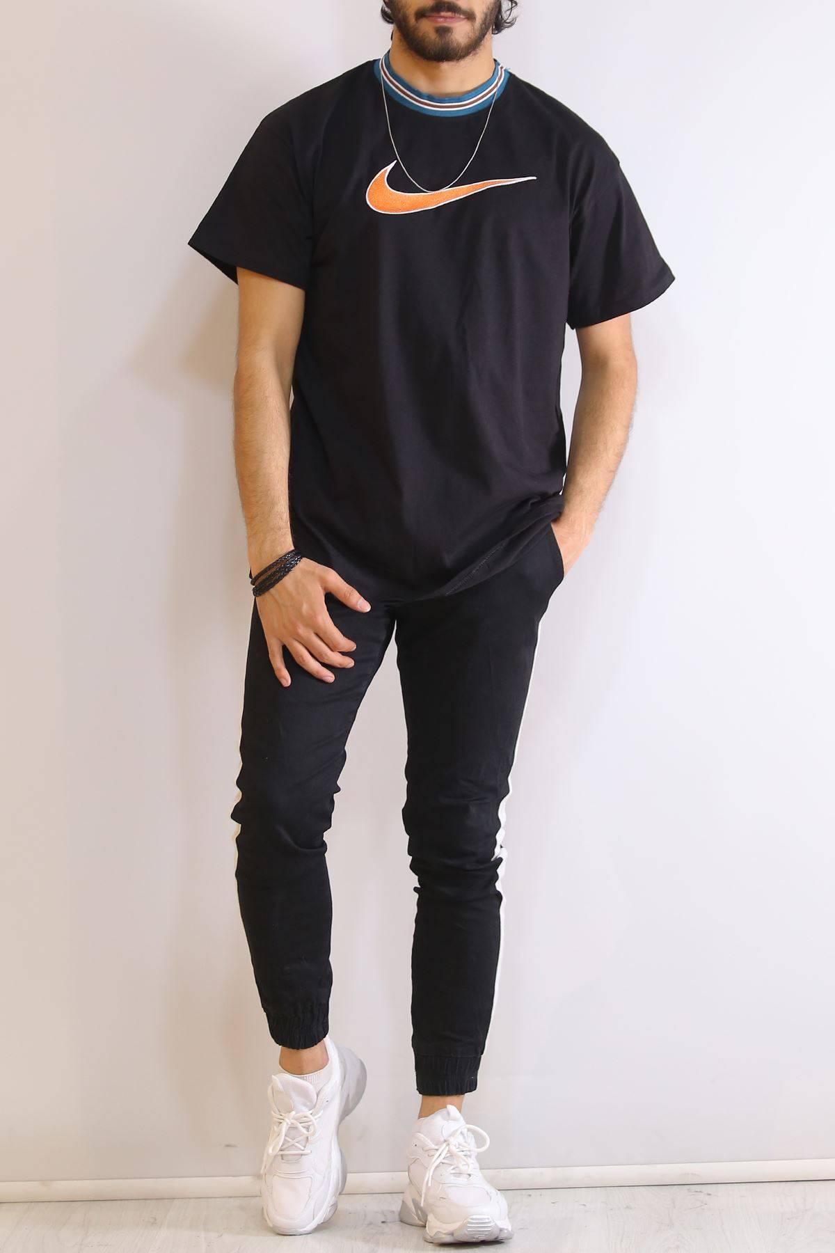 Nakışlı Tişört Siyah - 6203.1377.
