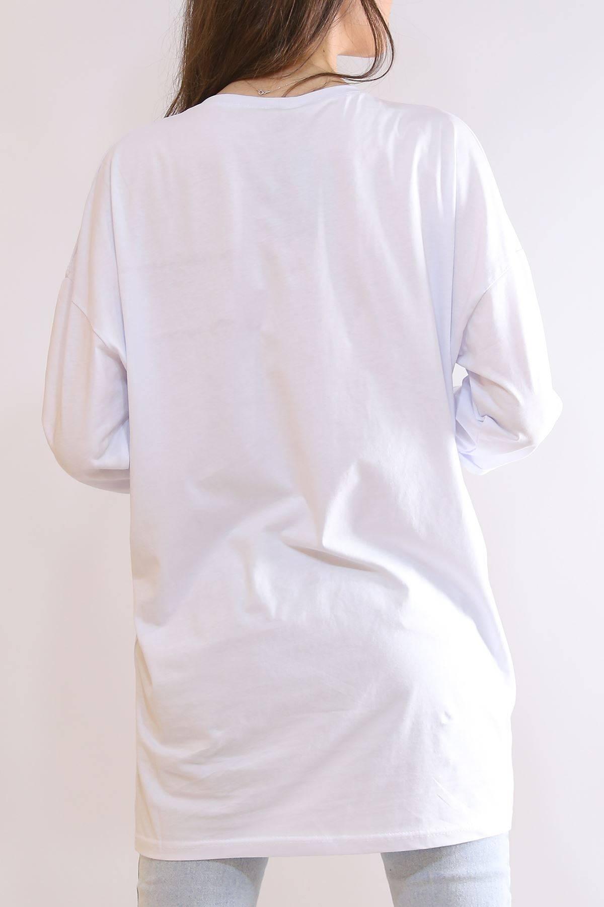 Kapri Kol Tunik Beyaz - 2216.105.