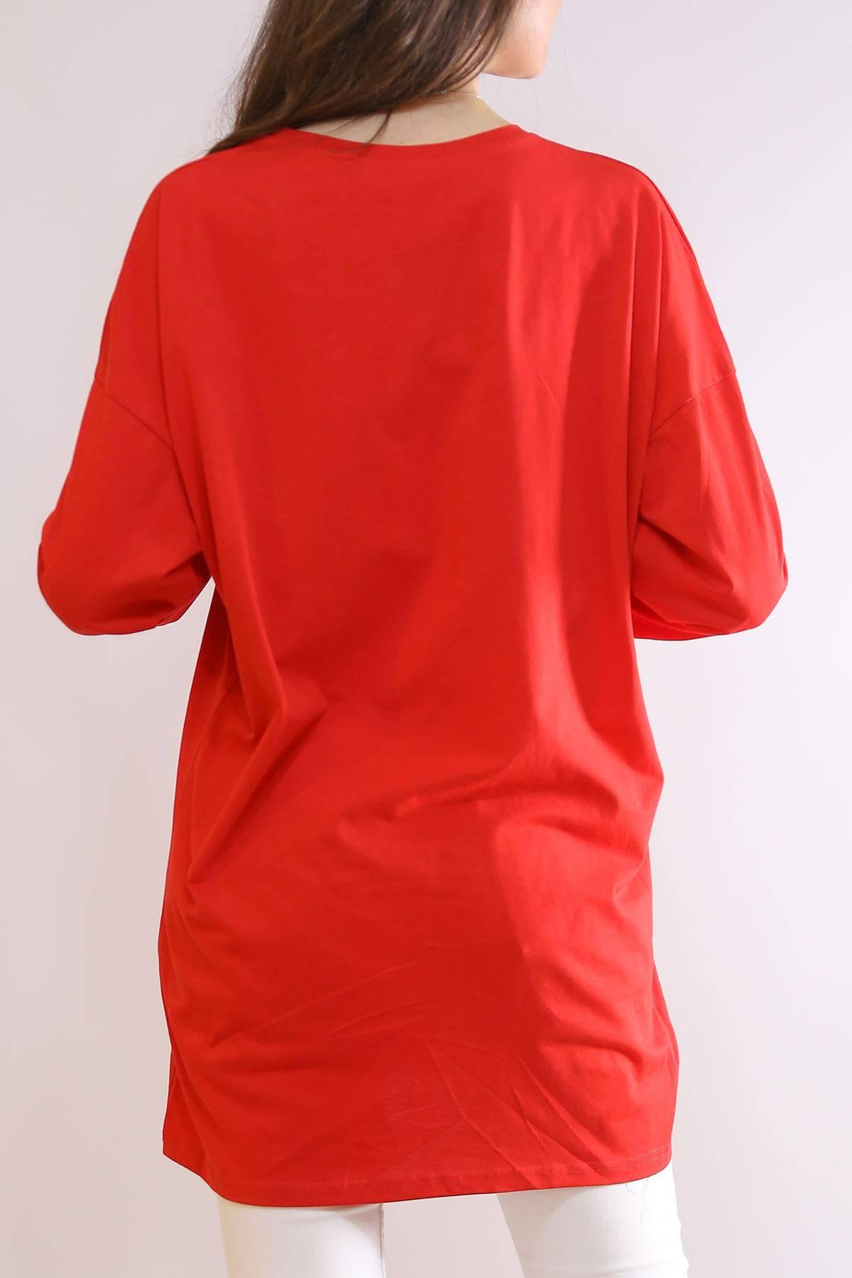 Kapri Kol Tunik Kırmızı - 2216.105.