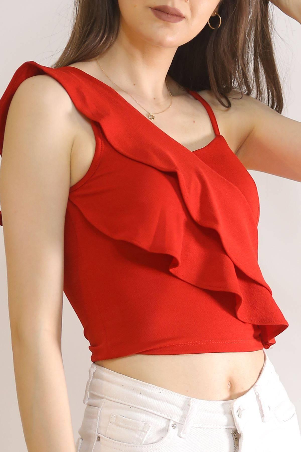 Scuba Volanlı Bluz Kırmızı - 3851.148.
