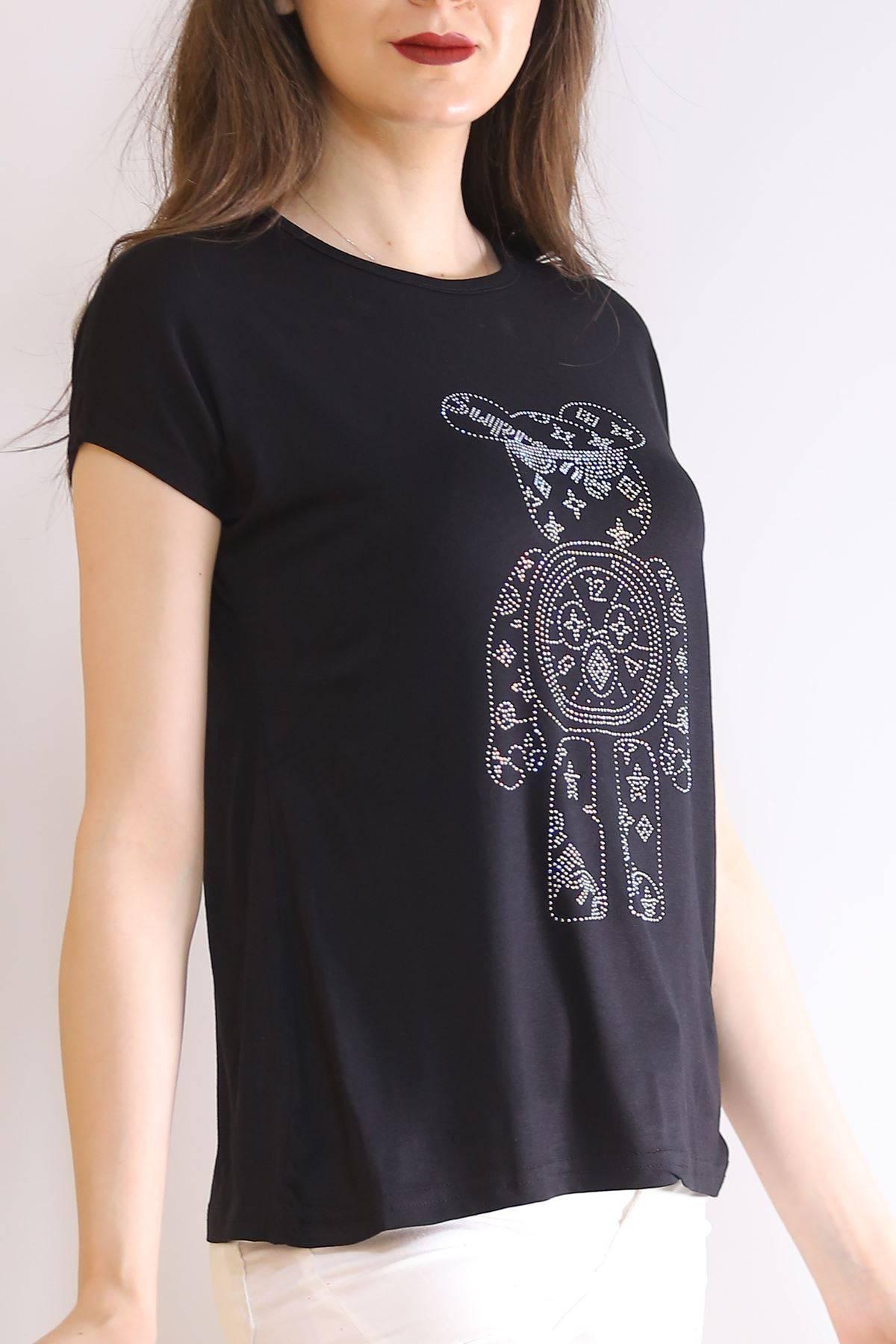 İnci Baskılı Tişört Siyah - 6518.599.