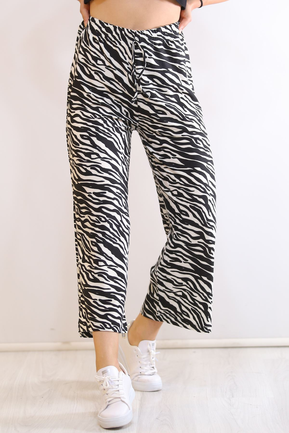 Örme Krep Pantolon Zebra - 19276.200.