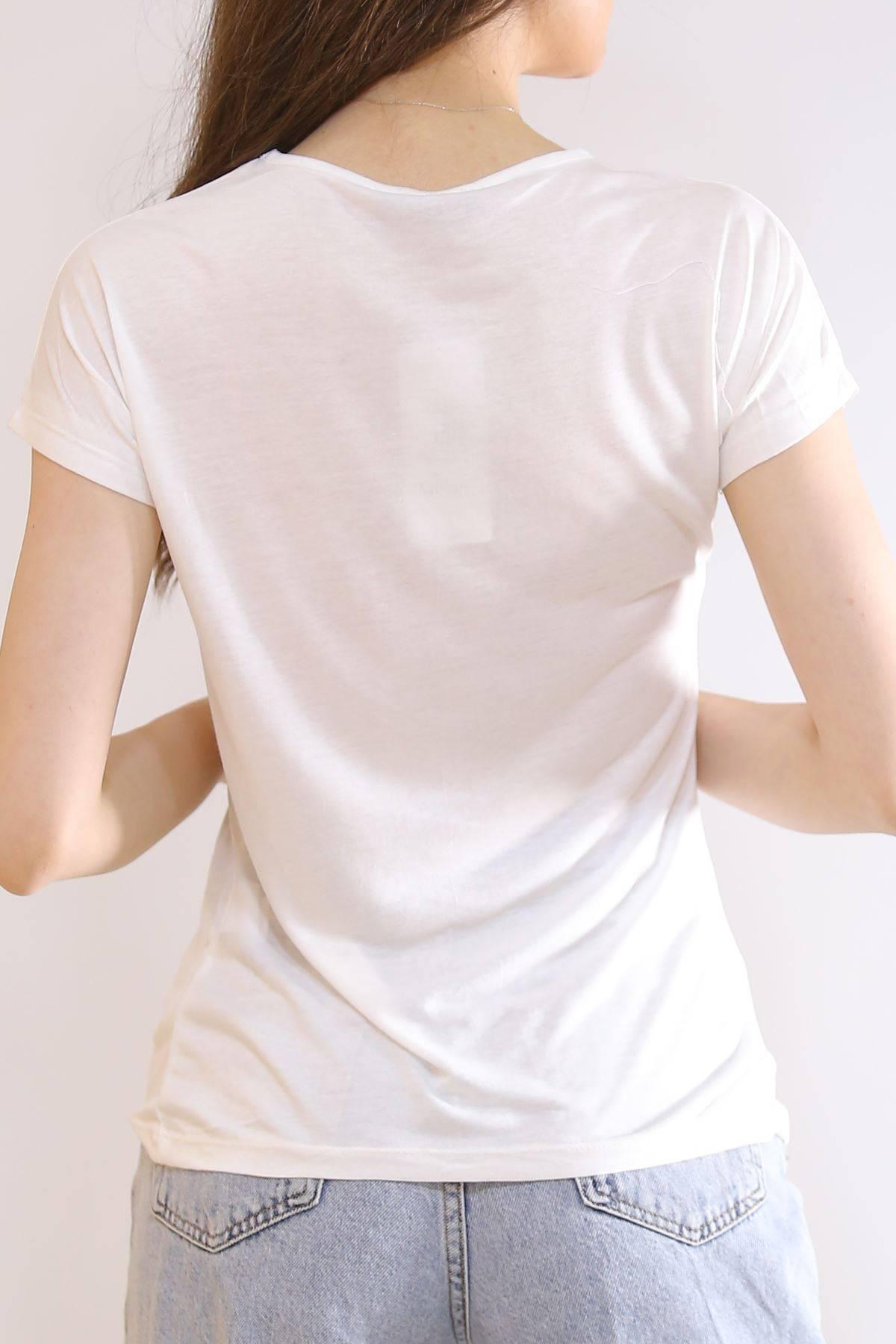 Salaş Baskılı Tişört Beyaz - 19325.200.