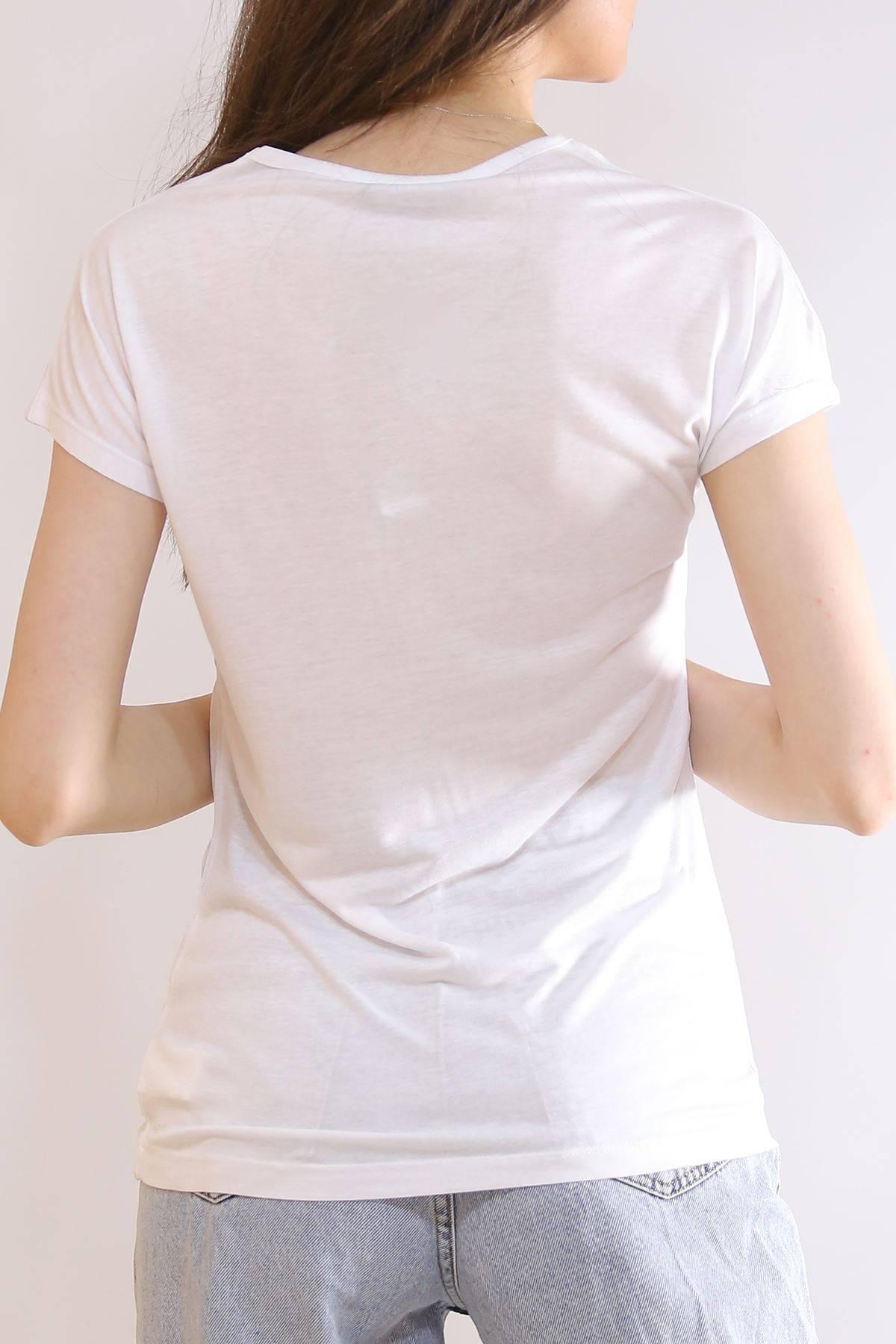 Baskılı Tişört Beyaz - 19604.200.