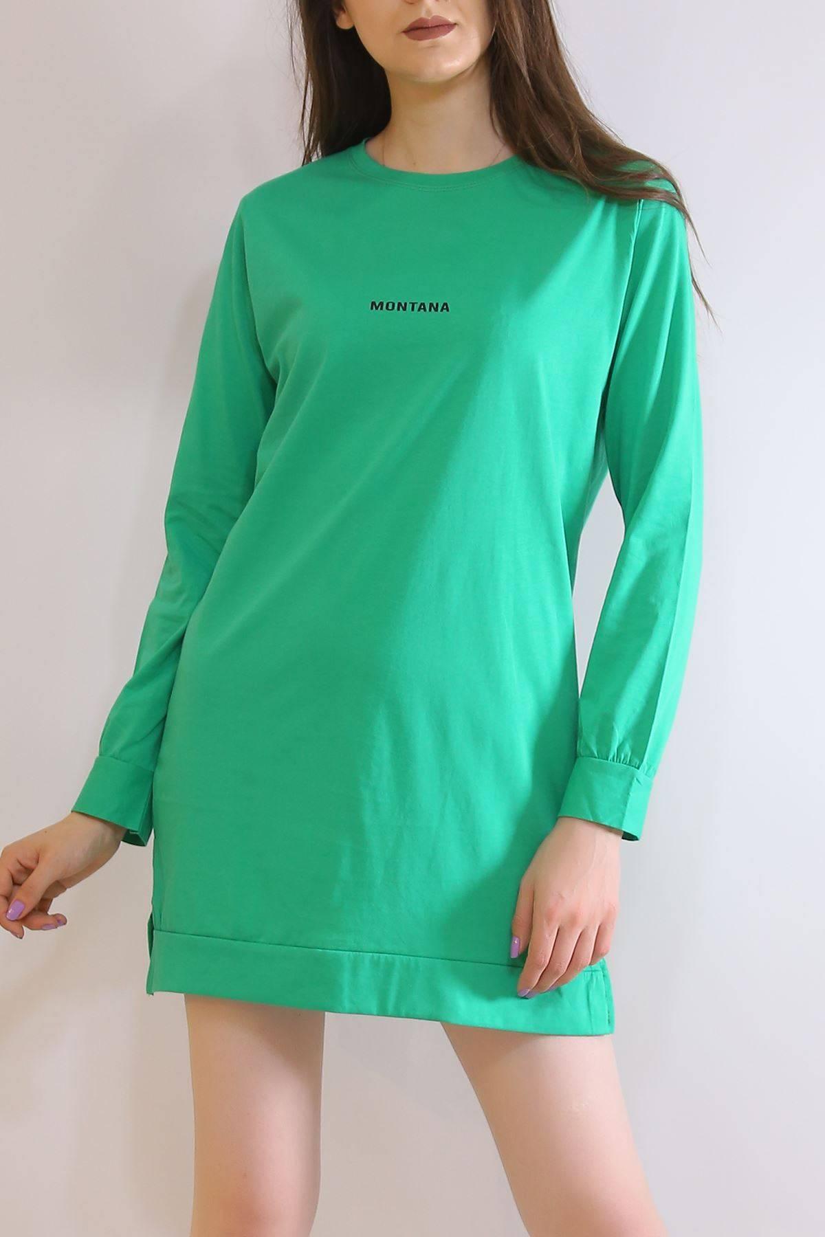 İki İplik Tunik Sweat Yeşil - 3152.105.