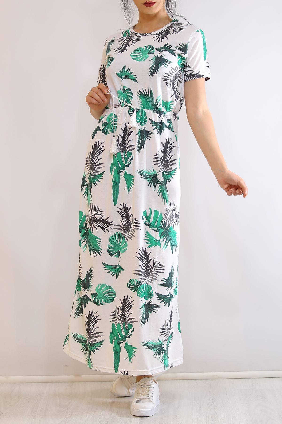 Yazlık Uzun Elbise Yeşilyapraklı - 5328.1187.