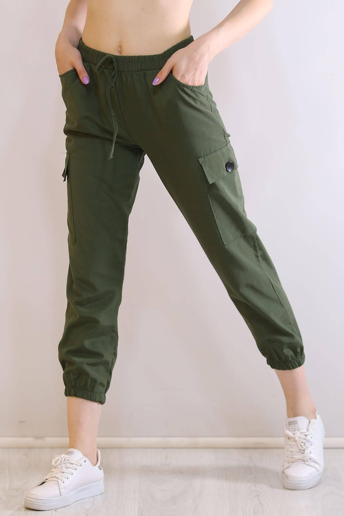 Kargo Cepli Pantolon Yeşil - 5452.107.