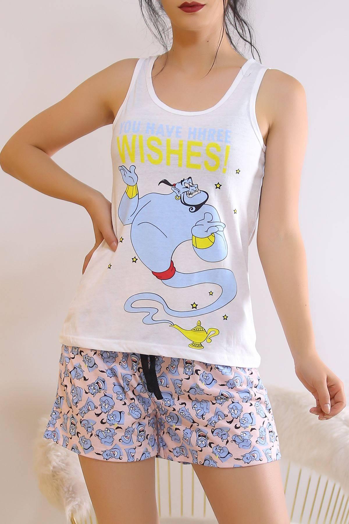 Şortlu Pijama Takımı Beyazmavi - 6511.1247.