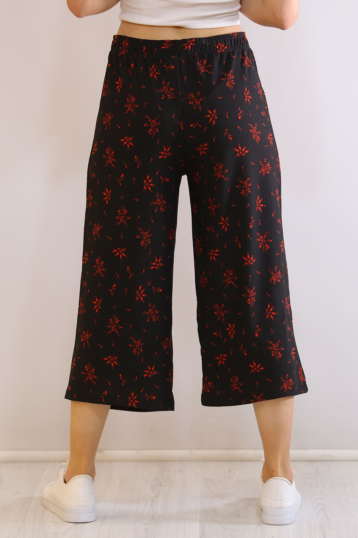 Örme Krep Pantolon Siyahkırmızı - 19276.200.
